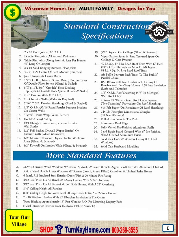 Modular.Home.Plan.Price.Catalog.Wisconsin.Homes.Inc.Multi.Family.Standards.PE.0116