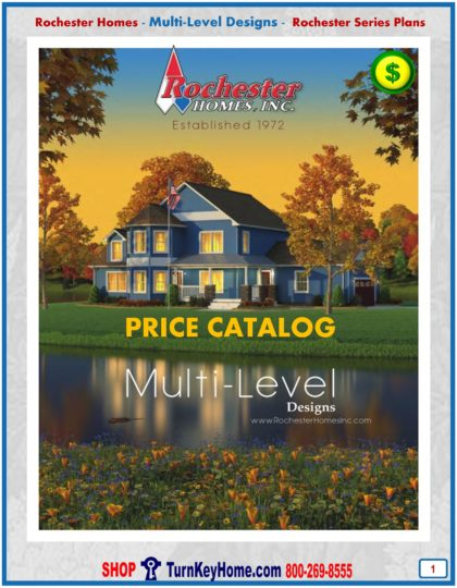 Multi Level Modular Home Prices FROM Rochester Homes Inc Cape Cod, Alpine, Chalet, Cabin, Cottage and Two Story Home Plans