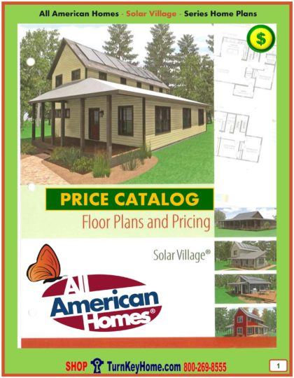 Solar Modular Home Prices FROM All American Homes Solar Village Green Home plans