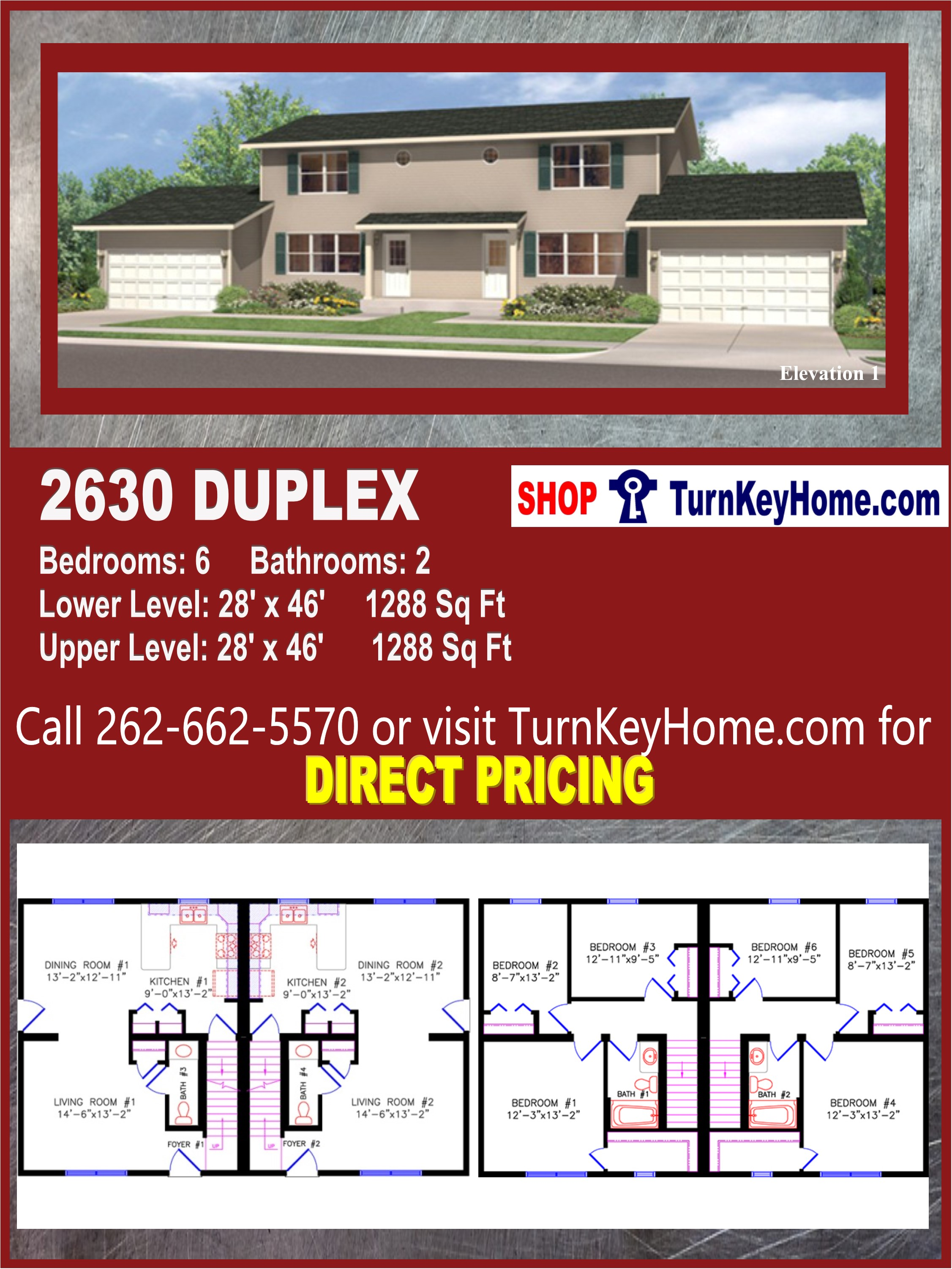 2630 DUPLEX E1 Multi Family Style Home 3 Bed 2 Bath Plan Priced from on more home plans, modular apartment plans, modular ranch home plans, mobile home add-on plans, modular cape cod house plans, modular cottage home plans, modular tri level home plans, modular townhouse plans, modular farmhouse plans, modular vacation home plans, modular bungalow house plans,