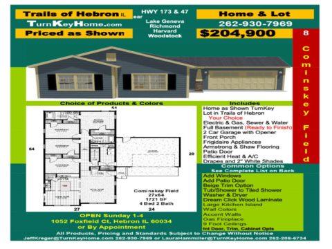 New Home & Lot Pkg $204,900