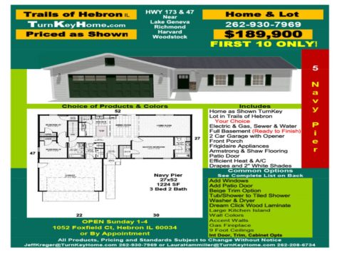 New Home & Lot Pkg $189,900