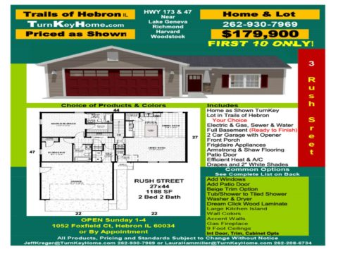 New Home & Lot Pkg $179,900