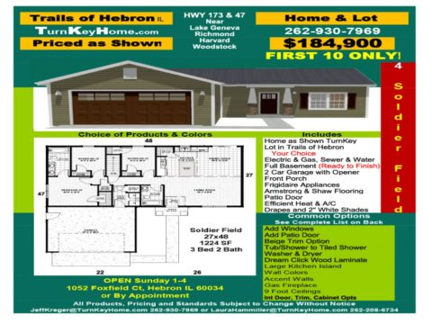 New Home & Lot Pkg $184,900