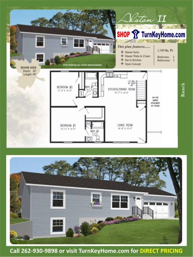Alston ll ranch 2 bed 2 bath plan 1120 sf priced from Rancher homes
