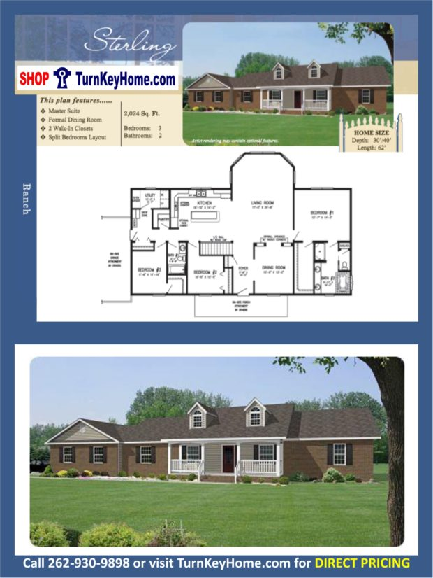 STERLING Ranch Home 3 Bed 2 Bath Plan 2024 SF Priced From Stratford ...