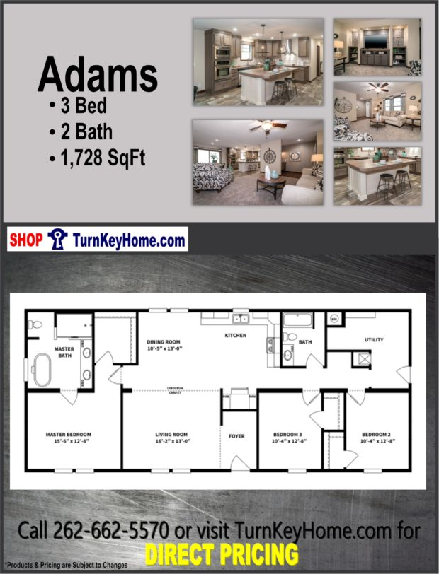 ADAMS Home 3 Bed 2 Bath Plan 1728 SF Priced from Clayton ... on 3 bed 3 bath floor plans, 4 bedroom home floor plans, 6 bed 3 bath floor plans, bathroom floor plans, 5 bed 3 bath floor plans, 2 bed 1 bath floor plans,