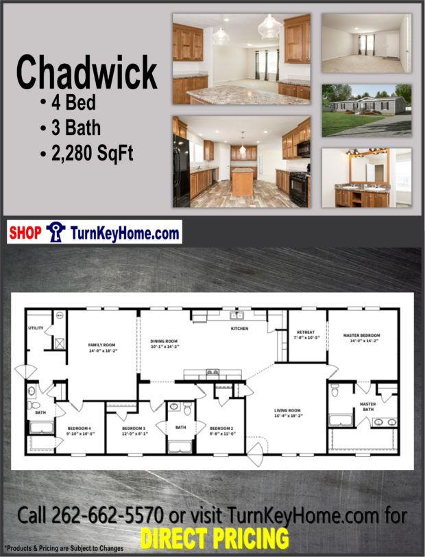 Plan 2280 SF Priced from Clayton Homes
