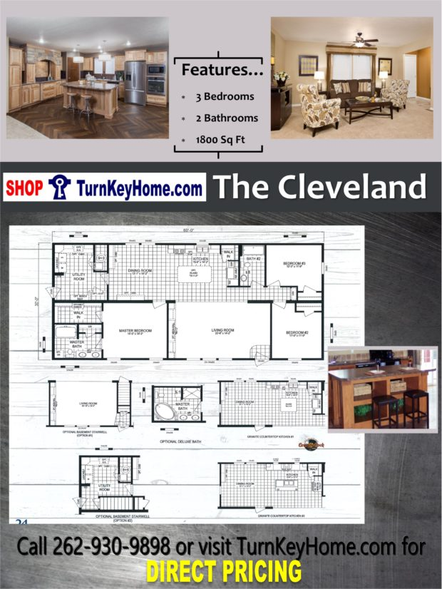 The cleveland home bed 2 bath plan 1800 sf priced from for Direct from the designers house plans