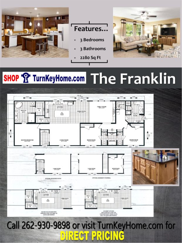 The franklin home 3 bed 3 bath plan 2280 sf priced from for Direct from the designers house plans