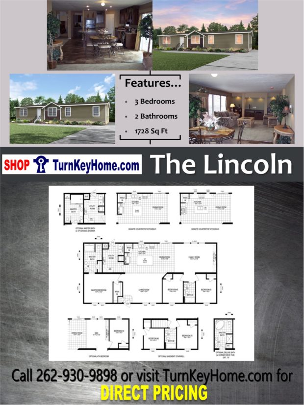 The lincoln home 3 bed 2 bath plan 1728 sf priced from for Direct from the designers house plans