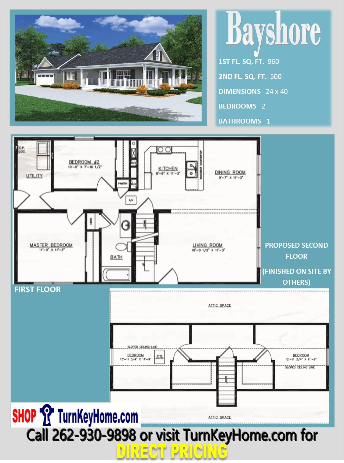 Bayshore cape cod style home 2 bed 1 bath plan 1460 sf for Direct from the designers house plans