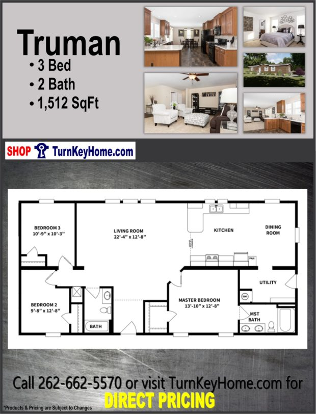 Plan 1512 SF Priced from Clayton Homes