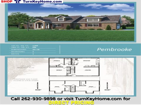 PEMBROOKE Cape Cod Style Home 2 Bed 1 Bath Plan 1710 SF Priced From  Heckaman Homes Modular Plan Designs