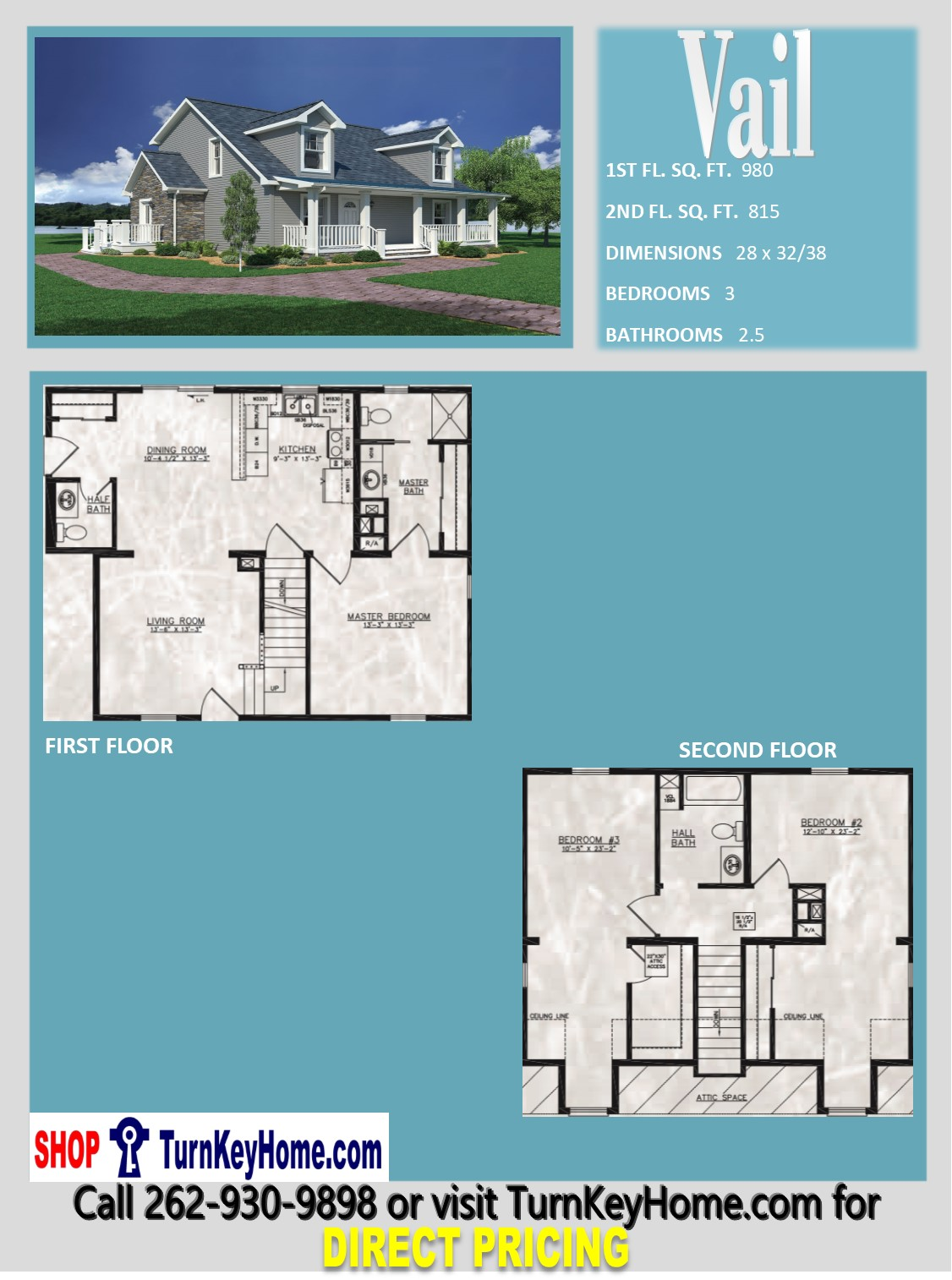 Vail cape cod style home 3 bed 2 5 bath plan 1795 sf for Direct from the designers house plans
