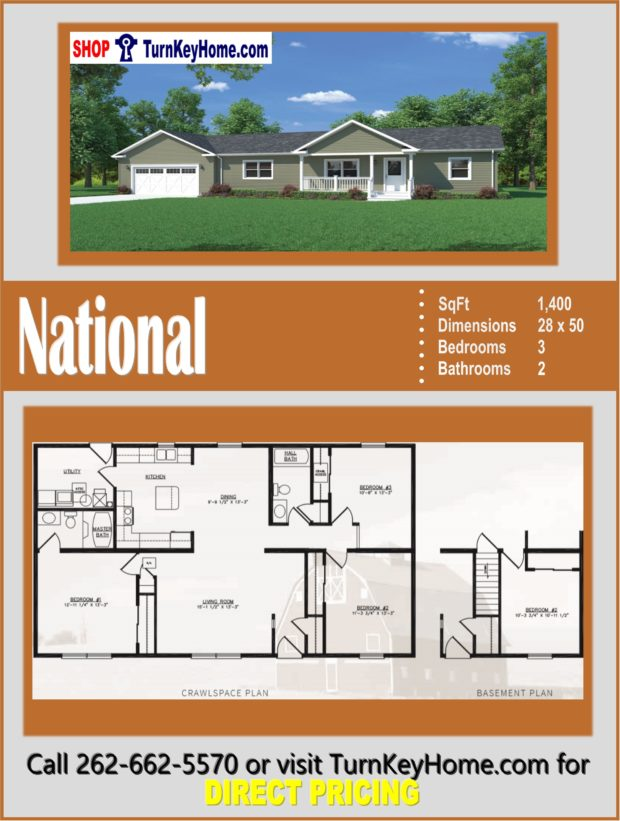 NATIONAL Ranch Style Home 3 Bed 2 Bath Plan 1400 SF Priced ... on 2500 sq ft open floor house plans, 1800 sq ft open floor house plans, 1900 sq ft open floor house plans, 2400 sq ft open floor house plans, 1600 sq ft open floor house plans, 3000 sq ft open floor house plans, 2000 sq ft open floor house plans, 1500 sq ft open floor house plans,