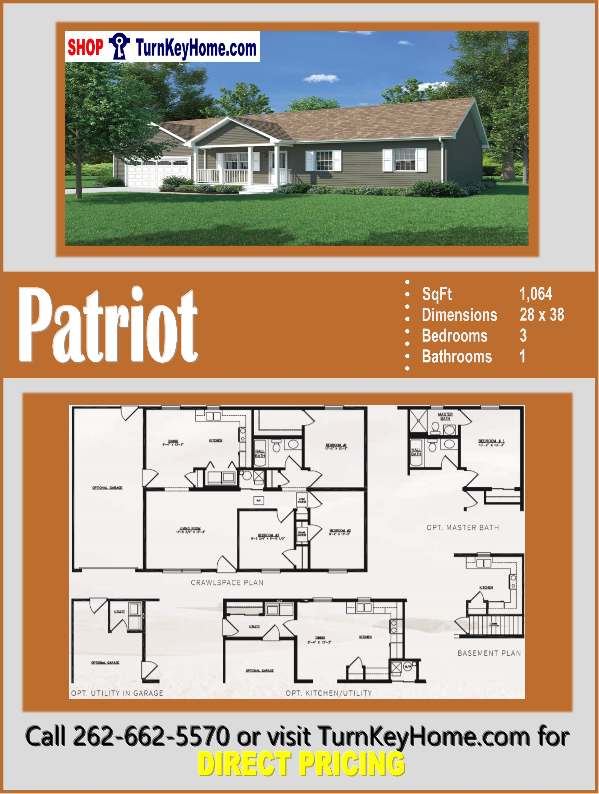 PATRIOT Ranch Style Home 3 Bed 1 Bath Plan 1064 SF Priced ... on ranch log home plans, ranch home lighting, luxury home plans, ranch home addition plans, ranch homes with porches, ranch home pricing, ranch home sketches, ranch style homes, ranch home basement plans, house plans, large ranch home plans, ranch home building kits, ranch home interiors, ranch home doors, ranch home with basement, ranch home design plans, ranch home history, ranch home bedrooms, ranch home architecture, ranch home elevations,