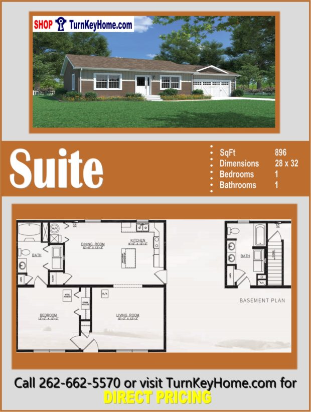 SUITE Ranch Style Home 1 Bed 1 Bath Plan 896 SF Priced from ... on 8 bedroom house floor plans, one-bedroom studio house plans, 4 bedroom apartment floor plans, 720 sq ft. house floor plans, one-bedroom trailer floor plans, 9 bedroom house floor plans, studio floor plans, one bedroom guest house floor plans, one bedroom open floor house plans, pool house floor plans, small cabin floor plans, one room house plans, 3 bedroom house floor plans, best one bedroom house plans, 4 bedroom house plans with open floor plans, shower house floor plans, two bedroom modular home floor plans, storage house floor plans, best one bedroom floor plans,