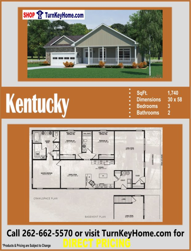 KENTUCKY Ranch Home 3 Bed 2 Bath Plan 1740 SF Priced from ... on little house design plans, 2 car garage design plans, ranch home bedrooms, bath house design plans, ranch home lighting, ranch home kitchen, ranch with farmers porch design, big house design plans, brick house design plans, ranch home remodeling, basement apartment design plans, ranch home layout designs, ranch home interior design, 3 car garage design plans, small house design plans, ranch home doors, apartment complex design plans, raised ranch design plans, ranch home models, ranch home design ideas,